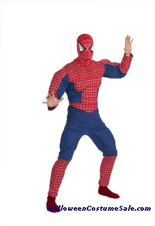 SPIDERMAN DELUXE MUSCLE CHEST ADULT COSTUME