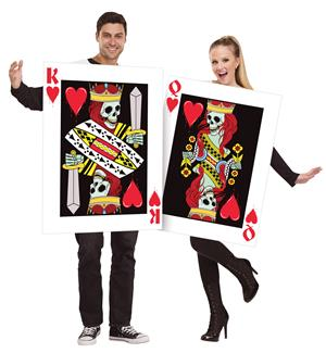 KING AND QUEEN OF HEARTS 2 ADULT COSTUMES