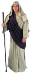 Adult Shepherd Gown - Solid earth tone gown & mantle. Poly cotton toga style drape in assorted colors. Cotton rope tie for mantle. (Cross, Shepherd Crook, sword and hat not included).  Costume is a Large.