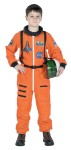 Astronaut Child Costume - Super deluxe authentic childs costume! This top quality Astronaut suit is sure to please your little space traveler. Includes: Bright Orange NASA color jumpsuit, official NASA patches, including special commander patch, and an official looking embroidere
