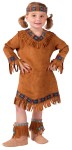 American Indian Toddler Costume - Includes fringed suede look dress with ribbon trim and headband.